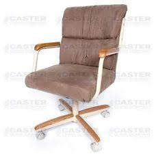 casual dining chairs with casters: casual rolling caster dining arm chair w swivel tilt set of