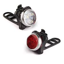 Ascher <b>USB Rechargeable Bike Light</b> Set, Super Bright <b>Front</b> ...
