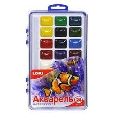 «<b>LORI Акварельные краски</b> 24 цвета без кисти (Акв-004 ...
