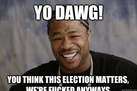 yo dawg! You think this election matters, we're fucked anyways ... via Relatably.com