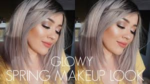 glowy spring glam cool toned makeup tutorial middot 2016