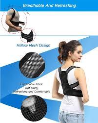<b>Back</b> Posture <b>Corrector</b> Shoulder <b>Support Belt</b> Adjustable Posture ...