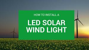 How To Install a <b>LED Solar wind light</b> - Sunmaster - YouTube