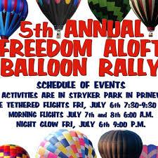 6th Annual Freedom Aloft <b>Hot Air Balloon</b> Rally July 5-7 2019 ...