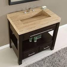 integrated sink top james martin solid wood quot malana bathroom vanity w travertine top