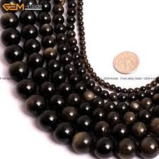 <b>Natural</b> Stone Genuine <b>Gold Obsidian Gemstone</b> Beads For Jewelry ...