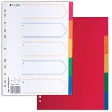 <b>Разделитель</b> пластиковый <b>BRAUBERG</b> для папок А4, 5 цветов, с ...