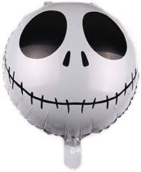 "Ecisi 18"" <b>Halloween</b> Decoration Balloon,Large Skull Expression ..."