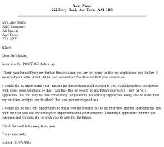 Follow Up Letter Example After Unsuccessful Interview - icover.org.uk Follow Up Letter Example After Unsuccessful Interview