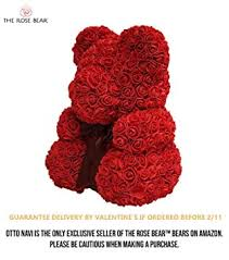 Rose Bear Teddy Bear Cub Forever Artificial Rose ... - Amazon.com