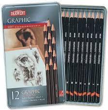<b>Набор чернографитных карандашей Derwent</b> Graphic Soft, 12 ...