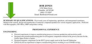 resume examples  summary of qualifications resume examples resume    resume examples   summary of qualifications and professional experience as engineering