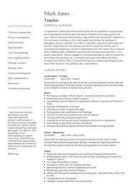 teacher cv template resume sample for teaching