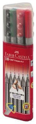 """Цена на <b>Набор</b> ручек <b>капиллярных Faber</b>-<b>Castell</b> """"Grip"""" 0,4 мм, 10 ..."""