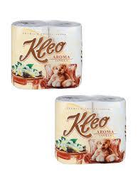 """<b>Туалетная бумага</b> """"<b>Kleo Aroma</b> Vanilla"""" 3сл. 8рул., 2 упаковки по 4 ..."""