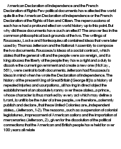 american declaration of independence and french declaration at    essay on american declaration of independence and french declaration