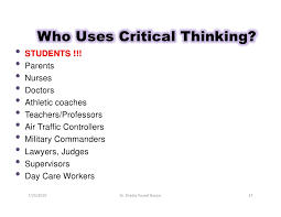Elder and Richard Paul         Critical Thinking  A Stage Theory of Critical Thinking           Critical Thinking  Nine Strategies for Everyday Life  Part I    Brandfolder