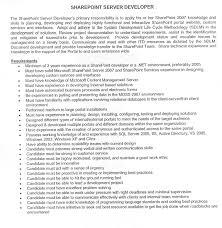 sharepoint resume resume format pdf sharepoint resume sharepoint designer 2007 2 sample resume sle sharepoint consultant resume in developer