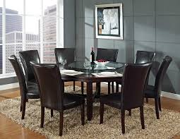 Glass Dining Room Tables Round Glass Dining Room Table Sets And Simple Wooden With Round Black