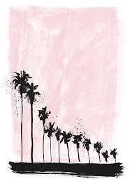 <b>Pink Palms</b> by Caroline Tomlinson || Print Club London
