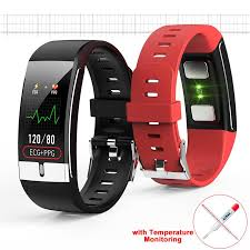 <b>E66</b> Smart Bracelet with Temperature Monitoring Waterproof Heart ...