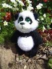 Вязание игрушки панда