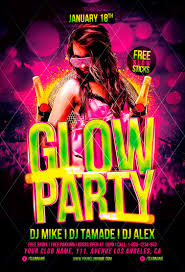 glow party flyer template awesomeflyer glow party flyer template awesomeflyer