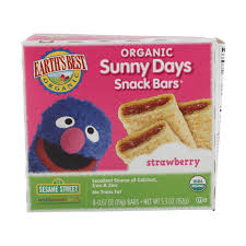 <b>Organic</b> Strawberry <b>Sunny Days Snack</b> Bar, 5.3 oz, Earth's Best ...