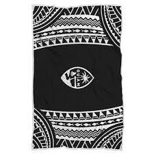 <b>Guam</b> Seal Chamorro White Tribal Blanket | Tribal blankets