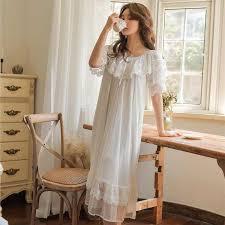 Women Soft Modal <b>Vintage</b> Long <b>Nightgown</b> Autumn Sweet Long ...