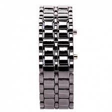 <b>Часы наручные</b> LED <b>Watch</b> металлический браслет (<b>silver</b>/blue)