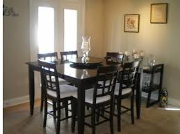 dining room pub style sets: pub style dining table with extra seating and leaf to acmodate  guests