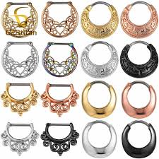 <b>G23titan Nose Piercing Rings</b> 16G Titanium Pole Nose Ring Clip ...