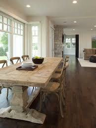 creamy brown wooden dining table