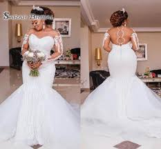 2019 <b>Luxury Heavy Beading Mermaid</b> Wedding Dresses Long ...