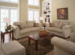 casual living room furniture with white sofa and rectangle wooden table with ordinary carpet casual living room