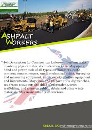 immigration placement services job offer aspalt worker