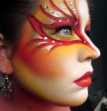 usually a makeup artist is often using multiple colors and a decoration to create a fantasy eye looks more perfect