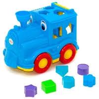 сортер orion toys паровозик логика кукушка 218