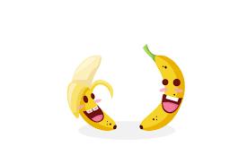 <b>Banana funny cartoon</b> emoticon vector free download