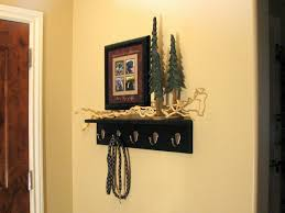 ideas wall shelf hooks
