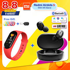 [2020 Promotion Set] Original Xiaomi Redmi Airdots S <b>TWS</b> Wireless ...
