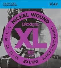<b>D`ADDARIO EXL120</b> NICKEL WOUND SUPER LIGHT 9-42 купить в ...