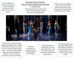 single frame analysis of mise en scene on dreamgirls geordangrace advertisements