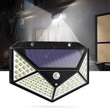 100 <b>LED Solar</b> Powered 1000lm PIR Motion Sensor Wall <b>Light</b> ...