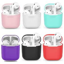 <b>Silicone</b> Soft Earphone <b>Case</b> for Airpods 2 <b>Skin</b> Sleeve Pouch <b>Box</b> ...