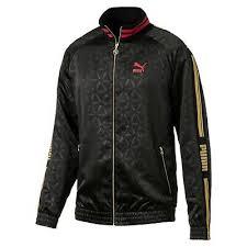 Puma Men's <b>LUXE</b> PACK All Over Print Track <b>Jacket</b> Puma Black ...