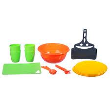 <b>Набор посуды для пикника</b> на 4 персоны, 19 предметов, пластик ...