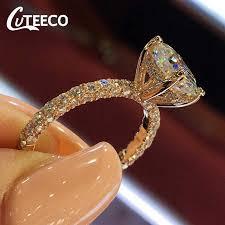 <b>CUTEECO</b> 2018 Hot Sale Copper Rings For Women <b>Fashion</b> Cubic ...