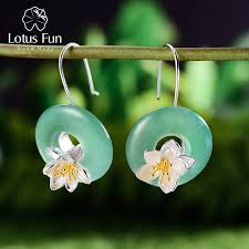lotus fun real 925 sterling silver natural aquamarine